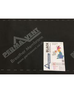 Permavent Black Breather Membrane 1.0m x 50m roll
