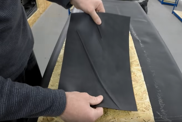 Removing Creases Rubbercover EPDM