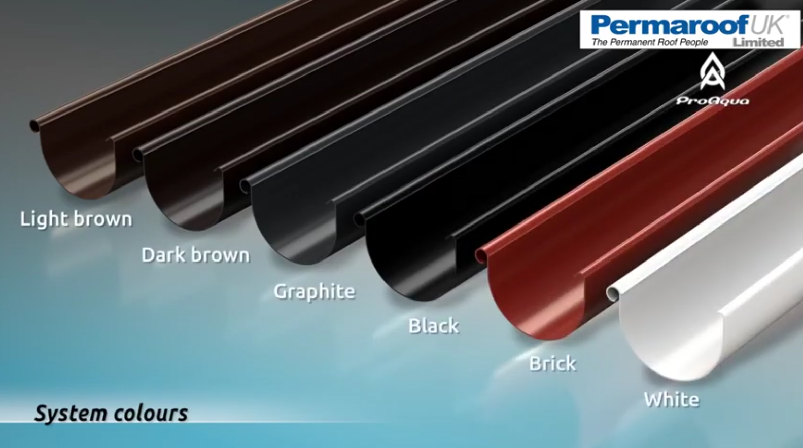 Pro Aqua PVC Gutter Systems | Permaroof EPDM Roofing